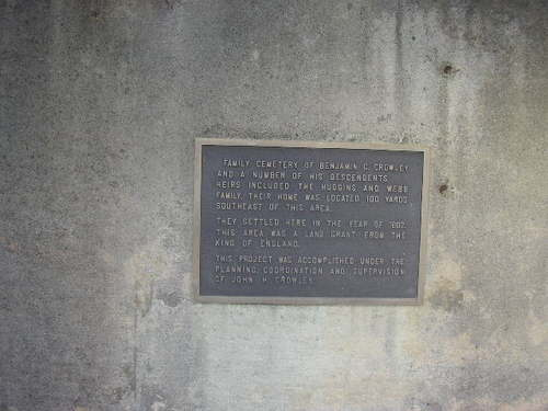 Plaque at the stairwell