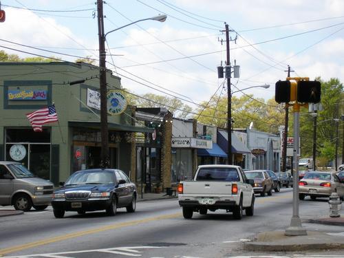 Glenwood toward Moreland Avenue